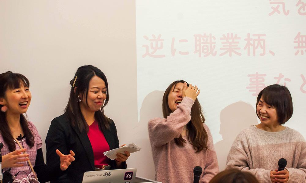 CSS Nite in Osaka, vol.53「Girls Nite vol.2」出演者一同がならんで笑っている写真