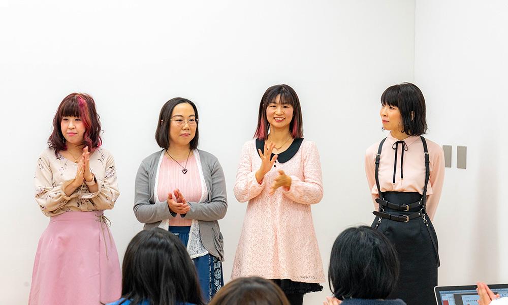 Girls Nite vol.1に登壇された方々が横並びになっている写真